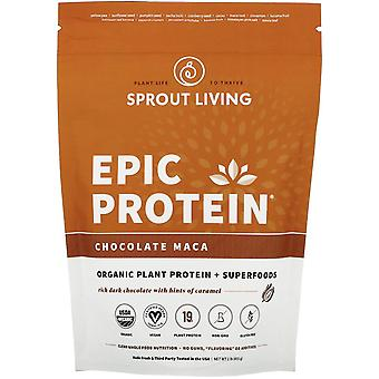 Sprout Living, Epic Protein, Organic Plant Protein + Superfoods, Chocolate Maca,