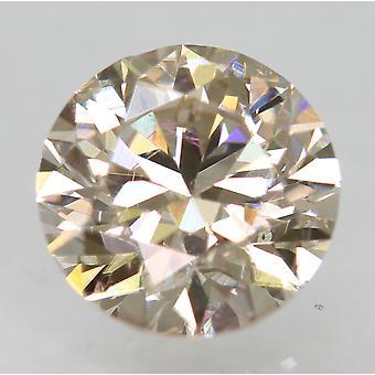 Cert 1.03 قيراط TTL براون VVS2 جولة رائعة المحسنة الماس الطبيعي 6.42mm