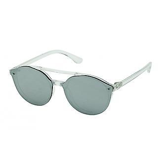 Gafas de sol Unisex panto de plata