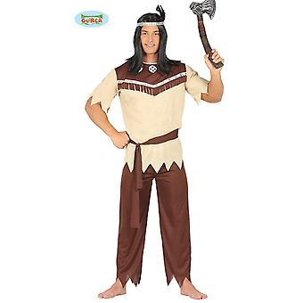 Generique - costume chef indien pour occidentaux beige-brun hommes