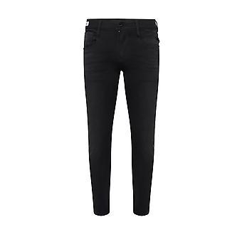 Replay Anbass Hyperflex Jeans Black