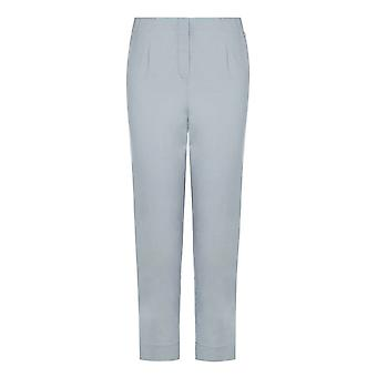 PENNY PLAIN Grey Twill Cropped Trousers