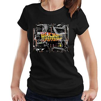 Takaisin tulevaisuuteen Delorean Montage Women's T-paita