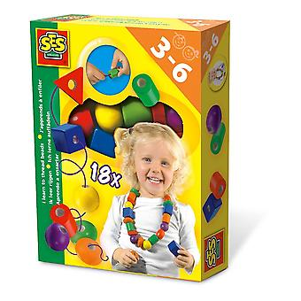 SES Creative I Learn to Thread Beads Kit Unisex Ages 3 à 6 Years Multi-color