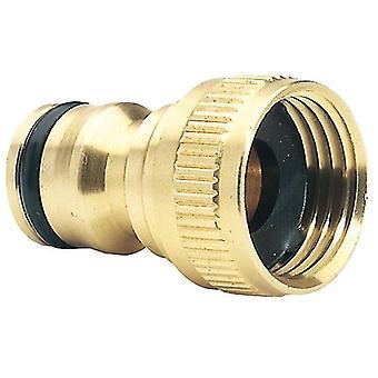 """Draper Expert 36197 Brass 1/2"""" BSP Garden Hose Tap Connector"""
