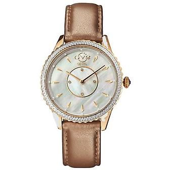 GV2-tekijä Gevril 11701-929L Women's Siena SwissQuartz Genuine Leather Diamond Watch