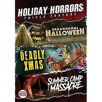 Holiday Horrors Triple Feature [DVD] USA import