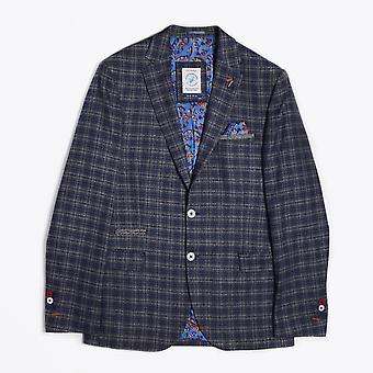 A Fish Named Fred  - Woven Checked Blazer - Blue/Grey