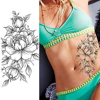 Purple Rose Jewelry Water Transfer Tattoo Stickers Women Body Chest Art