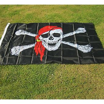 Aerlxemrbrae Flag Huge Skull And Cross Crossbones Jolly Roger Pirate Flag -