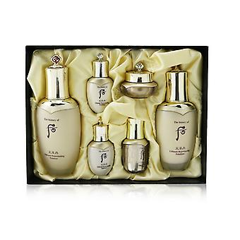 Cheonyuldan Ultimate Rejuvenating Set: Balancer (150ml+25ml) + Emulsion (110ml+25ml) + Essence 8ml + Cream 10ml - 6pcs