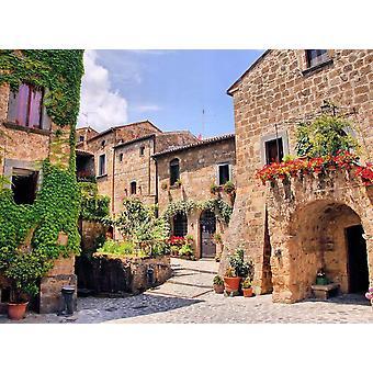Wallpaper muurschildering Italiaanse oude dorp