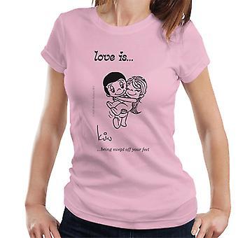 Kærlighed bliver fejet af dine fødder Women's T-shirt
