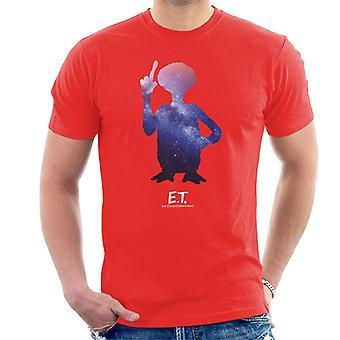 E.T. Galactic Silhouette Men's Camiseta