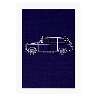 London Taxi Company TX4 Outline A4 Print
