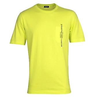 Diesel T-Just Pocket Maglietta Yellow T-Shirt