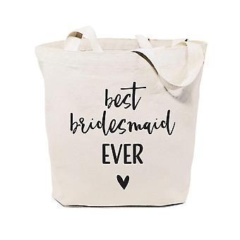 Mejor novia siempre algodón lona bolsa de tote