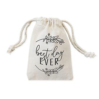 Best Day Ever-cotton Canvas Wedding Favor Bags