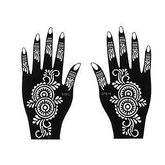 Fashion Diy Temporary Hand Tattoo, Body Art Sticker Template Stencils