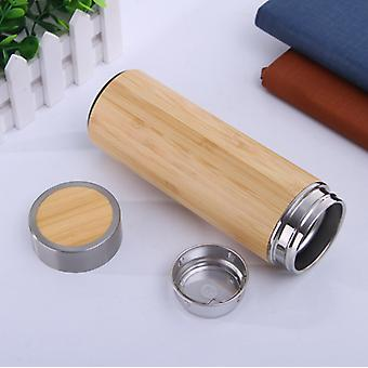 Taza de la cáscara de bambú del acero inoxidable