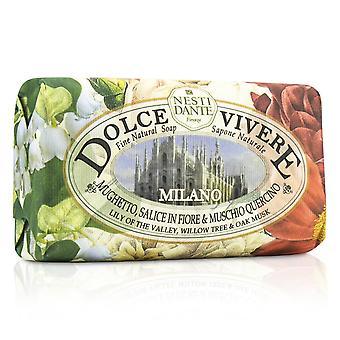Dolce vivere sabonete natural milano lírio do vale, salgueiro e almíscar de carvalho 189777 250g/8.8oz