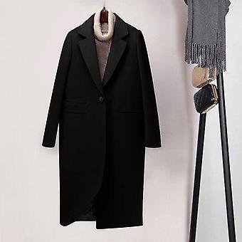 Téli divat kasmír gyapjú felsőruházat női hosszú megvastagodása meleg kabát