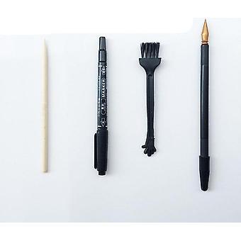 עשה זאת, עשה זאת, תצוגת לילה צבעונית, שריטה אמנות ציור ידני ציור