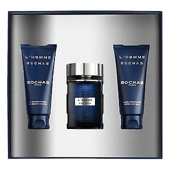 Men's Perfume Set L'Homme Rochas EDT (3 uds)