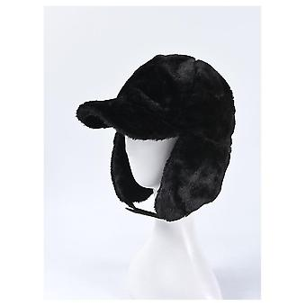 Women Cold Winter Bomber Hats Warm With Earflaps Rex Fur Ear Protector Caps