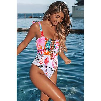 Cute Floral One-piece Swimsuit