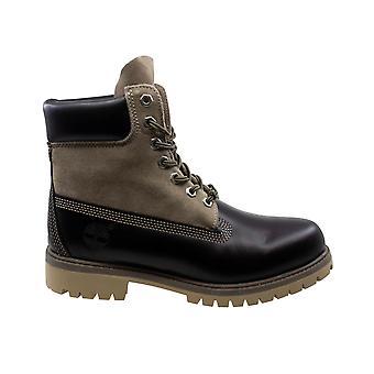 تيمبرلاند FG 6 بوصة قسط الجلود السوداء الدانتيل حتى الرجال الأحذية A13QN