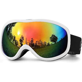 SPOSUNE OTG Ski Goggles - Over Glasses Snow Snowboard Goggle with Anti fog Dual lens