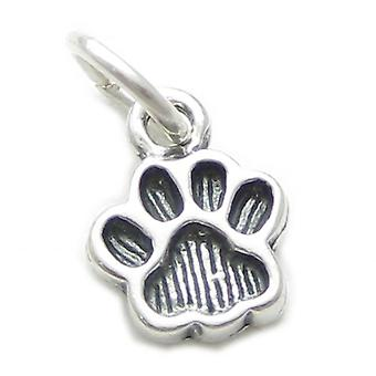Pawprint Small Sterling Silver Charm .925 X 1 Prints And Paw Print Charms - 3539