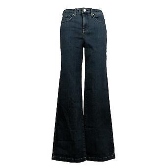 NYDJ Women's Jeans Mid-Rise 5-Pocket Wide Leg Trouser Blue A346583