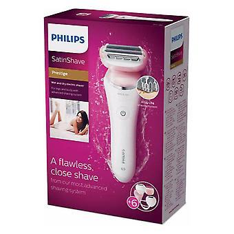 Philips SatinShave Prestige Rasoir électrique humide et sec +6 Accessoires