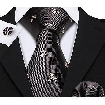 Kallo silkki solmio nenäliina setti häät / sulhanen / yritys