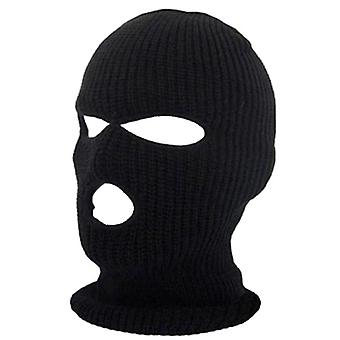 Full Face Cover Mask 3 Hole, Balaclava Knit Hat, Army Tactical Winter Ski