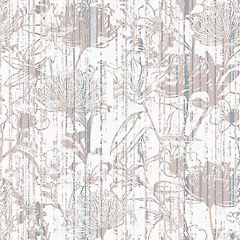 Tapete impresso de sonho de flor multicolorido em poliéster, algodão, L100xP200 cm
