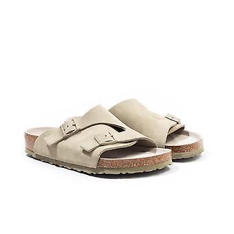 Birkenstock Zurich Suede Leather Sandals - Faded Khaki