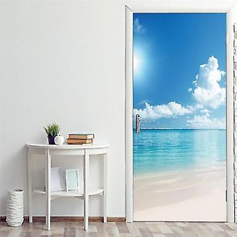 3d Modern Design Self-adhesive Waterproof Door Sticker