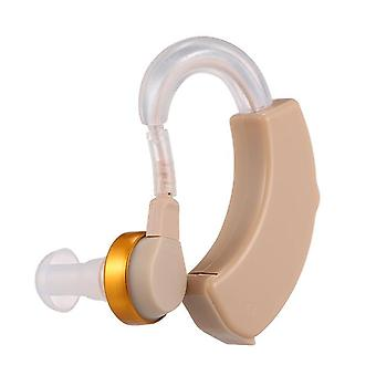 Mini hearing aids battery powered in enhancement ear hearing device for the elderly & adual sound amplifier with storage case