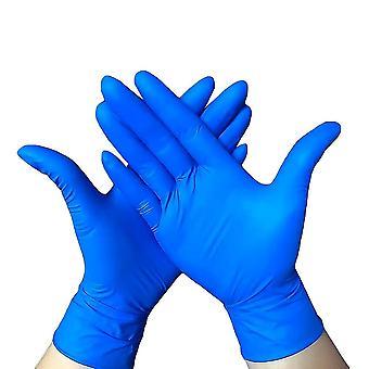 Mănuși, mănuși de unică folosință, mănuși de cauciuc nitril fără latex, albastru 100, mănuși de curățare multifuncționale durabile