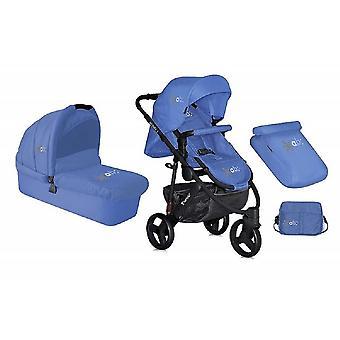 Lorelli Kinderwagen 2 in 1 Monza, EVA-Reifen, Babywanne, Sportsitz blau