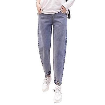 Lose Mutterschaft Jeans hohe Taille verstellbarbauch hose, Frühling Mode