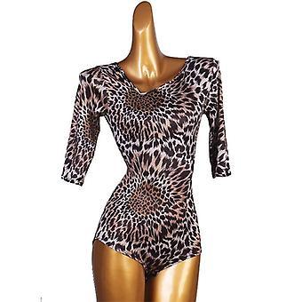 Latinalainen tanssi uusi naaras lapsi leopardi print body puku