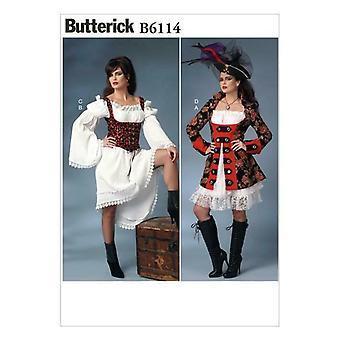 Butterick ompelu kuvio 6114 Misses Naisten Takki Mekot Liivi Koko 6-14