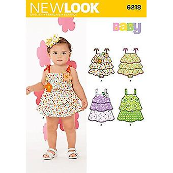 New Look Sewing Pattern 6218Baby Infant Dress Size NB-L