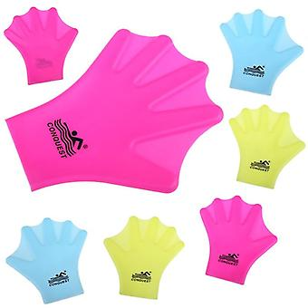 A pair swimming webbed glove fins for adults