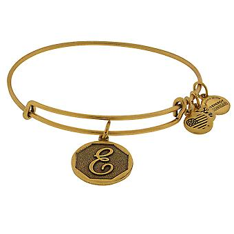 Alex and Ani Initial E Charm Bangle Bracelet - A13EB14EG