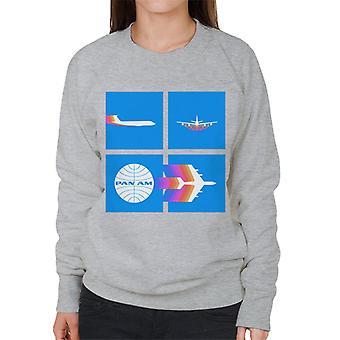 Pan Am Takeoff Silhouette Women's Sweatshirt